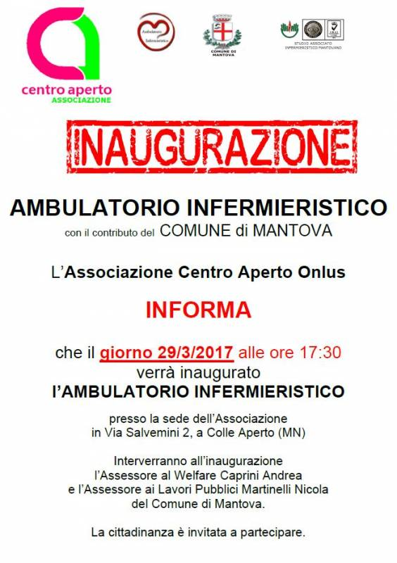 Inaugurazione ambulatorio infermieristico